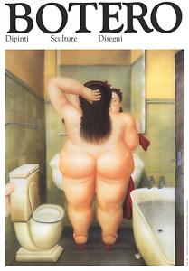 FERNANDO BOTERO The Bath 19.5 x 13.5 Poster 1991 Contemporary Brown, White, Yell