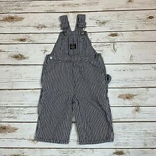 Lakin McKey Toddler Overalls Boys Engineer Blue Striped Carpenter Size 12 Months
