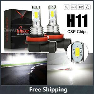 2X H11 H9 H8 LED Fog Light Bulbs 12V 55W 8000LM Kit CSP 6000K Xenon White Canbus