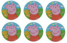 Ensemble de 6 Peppa Pig Mélamine Plaques 20.3cm Diamètre (20cm)
