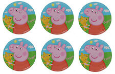 "6er Set Peppa Pig Melamin Teller 8 "" Durchmesser (20cm)"