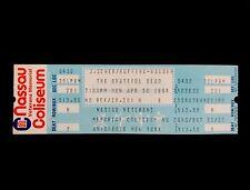 Grateful Dead Ticket 1984 New York Nassau Coliseum 4/30/84 Uniondale NY Unused