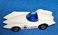 Hot Wheels Mainline #527 White Second Wind Mach 6 Blackwall Wheels 1/64 Loose