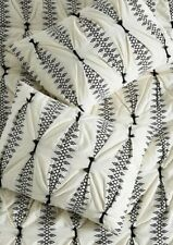 New Anthropologie Embroidered Lilou Standard Sham Set of 2 #102