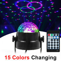 15 Colors Party Stage Light Strobe LED DJ Ball Sound Activated Bulb Dance Lamp