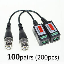 100 pairs Video Balun Twisted Video Balun passive Transceivers CCTV UTP BNC Cat5