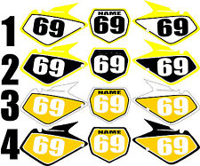 2003-2008 Suzuki RM125 250 RM 125 250 Number Plates Side Panels Graphics Decal