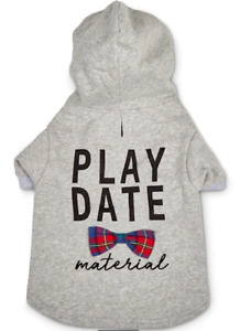 PLAY DATE MATERIAL Dog Hoodie Sweatshirt - ALL SIZES - Bowtie - Bond & Co - NWT