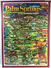 Rare 1980's Art Palm Springs Chamber of Commerce City Poster Mid Century Modern