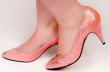RARE vintage pink & silver python skin CASADEI heels Made in Italy size 4