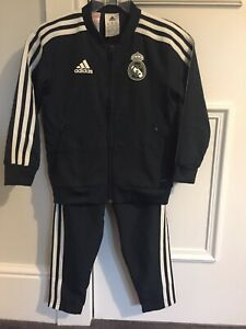 Adidas Kids Real Madrid Pre Match Tracksuit Dark Green Age 4-5 years