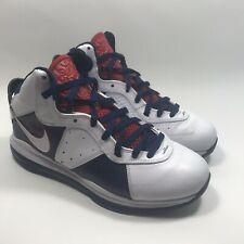 on sale b77cc e9ec5 Nike Lebron VIII Veteran Day White Bl Red USA Olympic 8 Sz 11 Jordan 417098  100