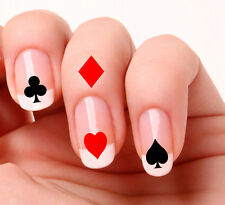20 Nail Art Decals Transfers Stickers Vinyl Poker Cards