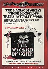 DVD ZONE 1 SOMETHING WEIRD VIDEO / GORDON LEWIS / THE WIZARD OF GORE