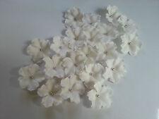 Edible Sugar White Veined Flowers Silver Balls Cupcake Cake Topper 20 Wedding
