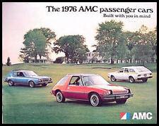 1976 AMC Dlx Brochure Pacer Gremlin Matador Hornet, Original 76
