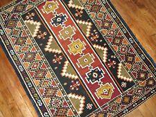 Antique Caucasian Shirvan Kazak Kuba Rug Size 3'x4'