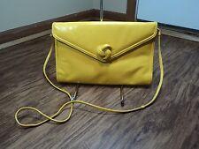 MaryAnn Rosenfeld Canary Yellow Vintage Envelope Shoulder Bag/Clutch