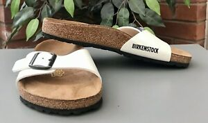 Birkenstock Madrid Ladies Sandals White Patent Size 37/4