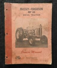 1960 MASSEY-FERGUSON MF85 MF 85 DIESEL TRACTOR OPERATORS MANUAL ACCEPTABLE SHAPE