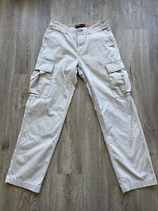 Vtg Tommy Hilfiger Cotton Khaki Cargo Pants 30/32 🇺🇸