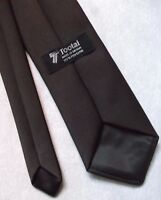 Vintage TOOTAL Tie Mens Necktie Retro 1980s Fashion DARK CHOCOLATE BROWN