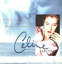 """Celine Dion CD Single Because You Loved Me (Theme From """"Up Close & Personal"""") -"""