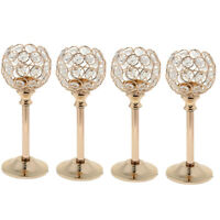 4pcs Crystal Candle Holders Candlesticks for Wedding Table Centerpieces