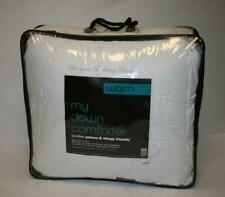 """""""my down comforter"""" Warm Full / Queen 94x100 Solid White 550 fill power"""