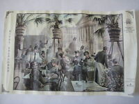 Hotel Belvedere Prague Czech Republic PRINT cafe bar beer placemat vtg Praha