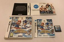 Mario & And Sonic at the Olympic Winter Games Nintendo DS Complete PAL Sega