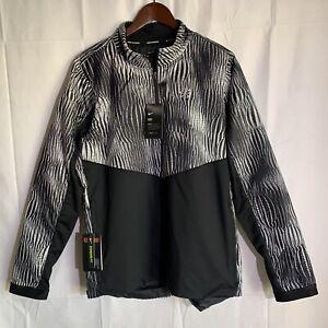 Men's Nike Running Element 1/2 Zip Thermore Jacket Black/White CK0035-010 Size L