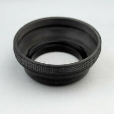 49mm COLLAPSIBLE RUBBER LENS HOOD / SHADE… EXC! 19