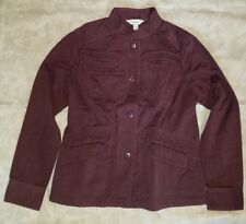 Ladies women LL Bean Kennebec raisin  brushed cotton blazer jacket NWT Small S