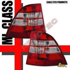 98-05 Mercedes Benz W163 ML430 ML320 ML350 Red Clear Tail Lights 1 Pair