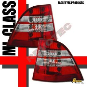 98-05 Mercedes Benz W163 ML430 ML320 ML350 Red Clear Tail Lights 1 Pair