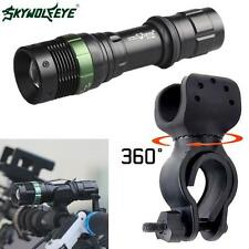 Bike Bicycle CREE XM-L T6 LED Zoomable Flashlight 6000LM Torch 360°Mount Clip