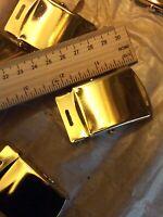 Gold Brass Slider Military Belt Buckle FOR 1.25 Canvas Web Belt **buckle only**