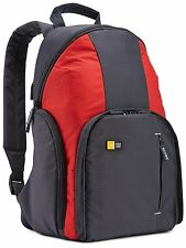 Case Logic TBC-411 DSLR Compact Backpack Anthracite/Red UK Stock
