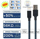 For iPhone 6 7 8 Plus iPhone 11 XR Xs Max 12 Charger USB Cable Cord 3/6/10FT