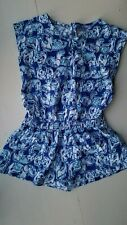 New Lilly Pulitzer Girls Romper Get Trunky Size Medium 6 7 14115