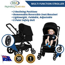 Pram Stroller Bassinet Reversible Strong Light Easy Adjust Folding SafetyJogger