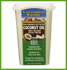 25 oz Carrington Farms Organic Extra Virgin Cold pressed Coconut Oil