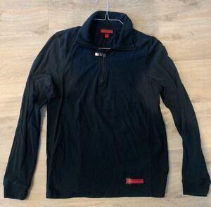 Burberry - Mens Large - Quarter Zip - Long Sleeve - Navy Pullover Light Sweater