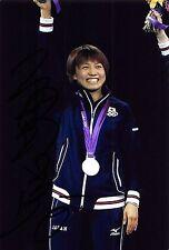 Sayaka Hirano - JAP - Tischtennis - Olympia 2012  - SILBER - Foto sig. (2)