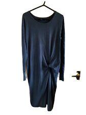Dark Green Next Long Sleeve Jumper Dress Size 8 (4707)