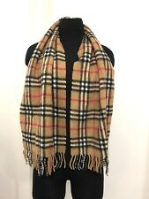 Authentic Burberry's Of London Cashmere Scarf Stole Signature Classic Print