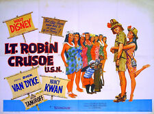 LT. ROBIN CRUSOE, R.N. 1966 Dick Van Dyke, Nancy Kwan UK QUAD POSTER