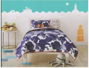7 pc Pillowfort Abstract Adventure Twin Comforter, Sham, Sheet, Pillows Set NIP