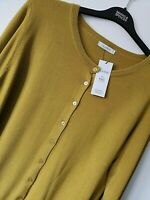 LADIES M&S CLASSIC SIZE 24 WINTER LIME GREEN SOFT STRETCH CARDIGAN FREE POST